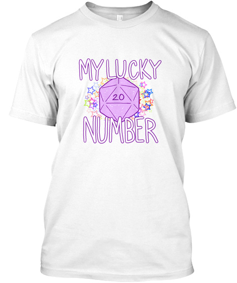 My Lucky 20 Number White T-Shirt Front