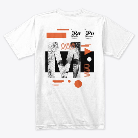 Marie Curie (White) White T-Shirt Back