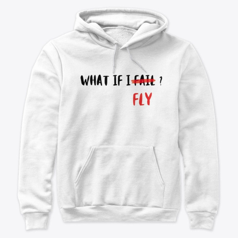 What If I Fly? White T-Shirt Front