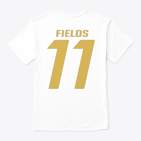 Fields 11 Tee White Camiseta Back
