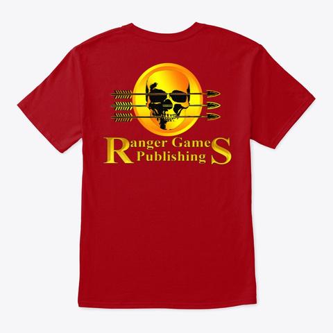 Wizard Skull Deep Red T-Shirt Back