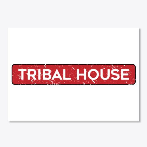 Tribal House Trance Edm White T-Shirt Front