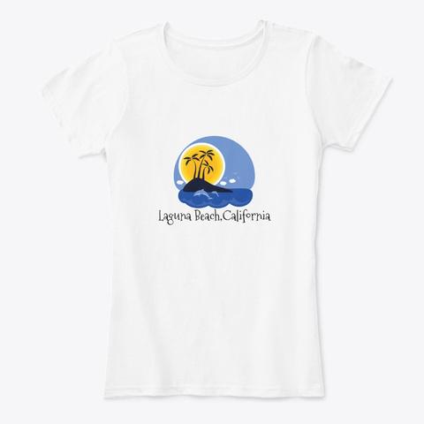 Laguna Beach California White T-Shirt Front