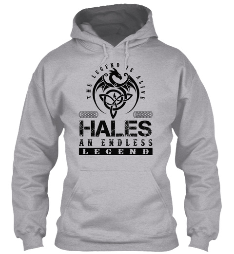 Hales   Legends Alive Sport Grey T-Shirt Front