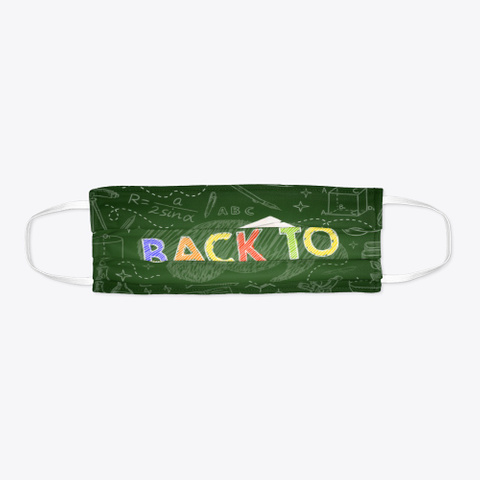 Back To School Green Funny Mask Standard T-Shirt Flat