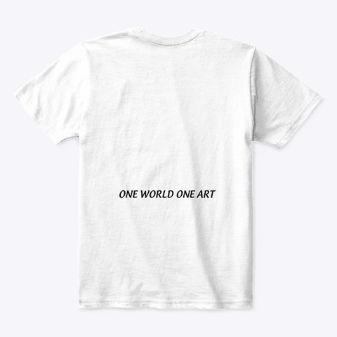 One World One Art   Lucca D White T-Shirt Back