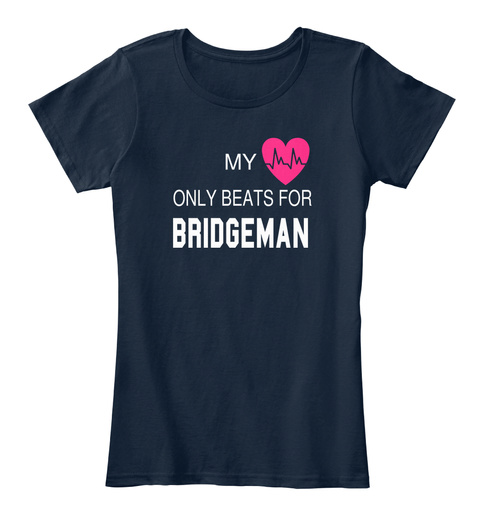 My Only Beats For Bridgeman New Navy T-Shirt Front