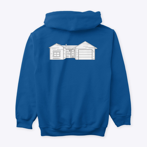 Classic Burbs Hoodie   All Colors Royal T-Shirt Back