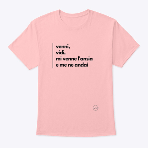 Ansia   Learn Amo Collection Pale Pink T-Shirt Front