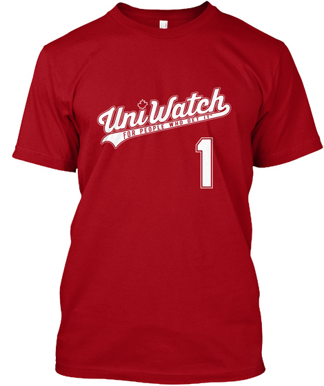 Uniwatch For People Who Get It 1 Deep Red Camiseta Front