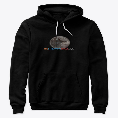 The Streaming Shack Black T-Shirt Front