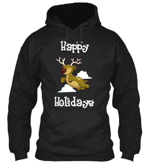 Happy Holidays Black Sweatshirt Front