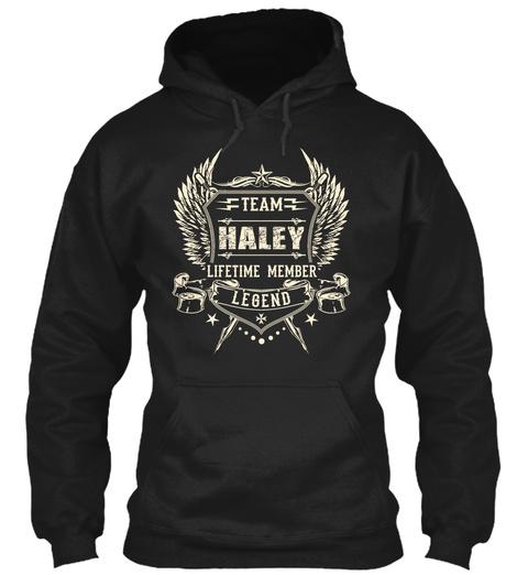 Team Haley Lifetime Member Legend Black T-Shirt Front