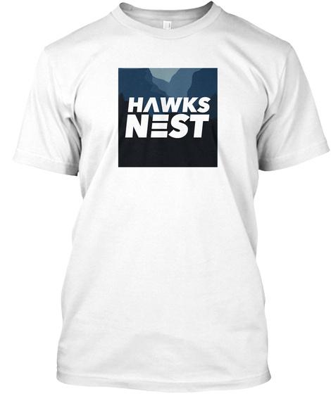 Hawks Nest Basic Inverted White T-Shirt Front