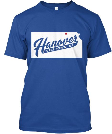 * Hanover Title Town . K.S. Deep Royal T-Shirt Front