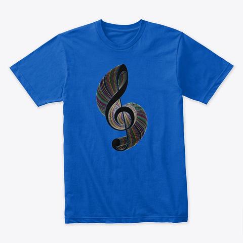 Abstract Art Royal T-Shirt Front
