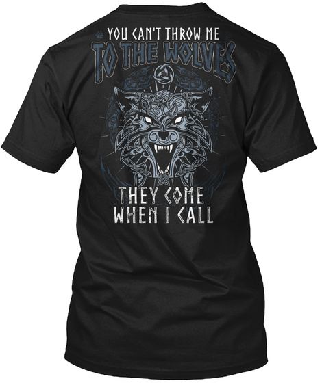 Viking   To The Wolves Black T-Shirt Back