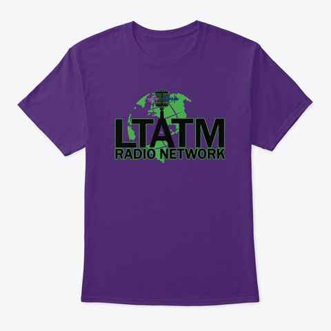 Ltatm Radio Network Clothing Purple T-Shirt Front