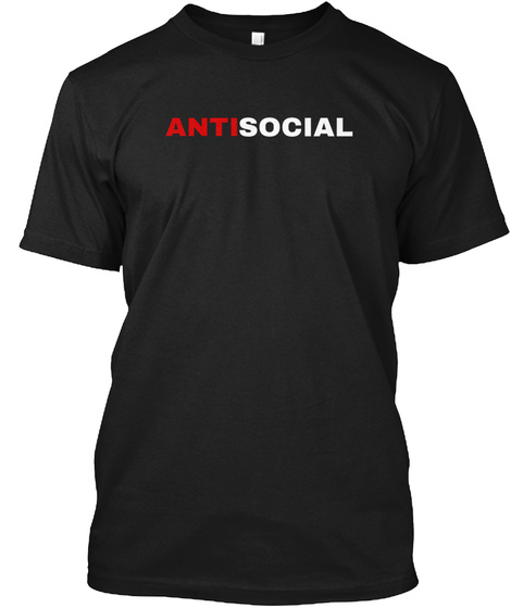 Antisocial Black T-Shirt Front