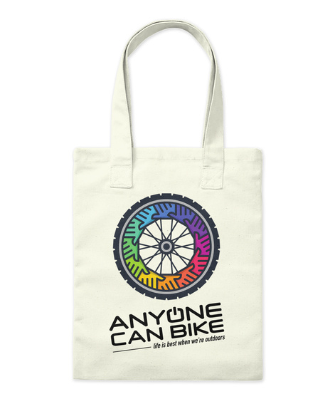 Anyone Can Bike Tote Natural Tote Bag Front