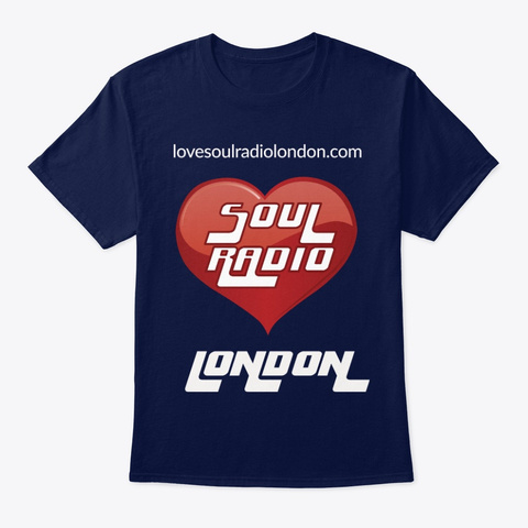 Love Soul Radio London Navy T-Shirt Front