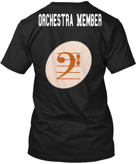 Orchestra Member Black T-Shirt Back