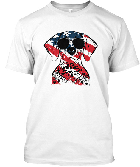 Dog German Shorthaired Pointer Us White T-Shirt Front