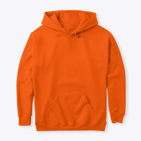 Beteavon Li Hoodie   קפוצון בתאבון לי Safety Orange T-Shirt Front