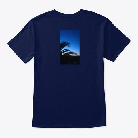 Blue Palm Navy T-Shirt Back