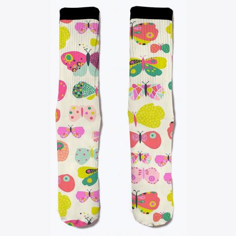 Butterfly Socks Lover  Standard T-Shirt Front