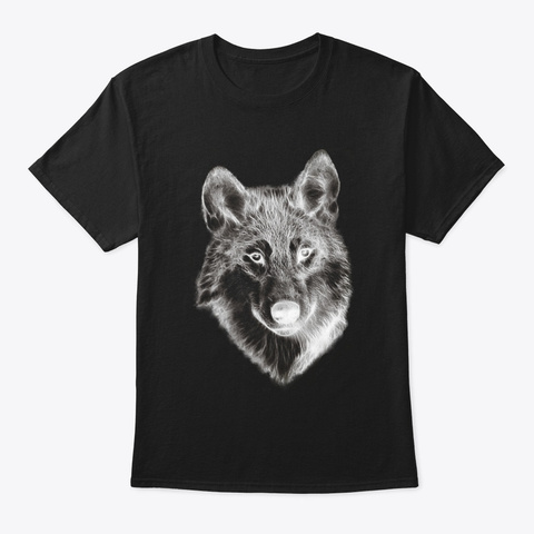 The White Wolf Black T-Shirt Front