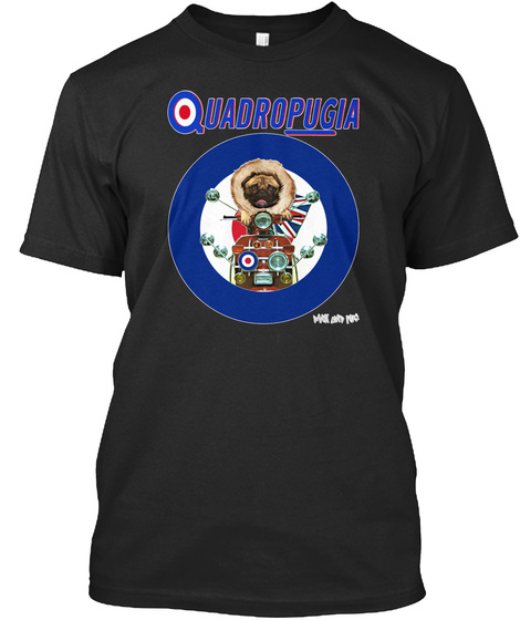 Quadropugia Black T-Shirt Front