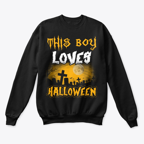This Boy Loves Halloween 2019 Tomb Black T-Shirt Front