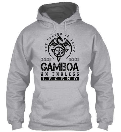 Gamboa   Legends Alive Sport Grey T-Shirt Front