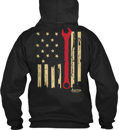 American Original Black T-Shirt Back