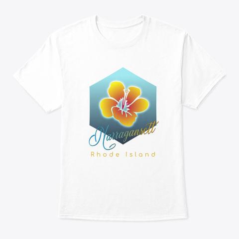 Narragansett Rhode Island Surfing Beach White T-Shirt Front