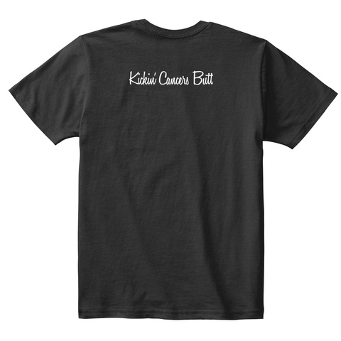 Kickini Cancers Butt Black T-Shirt Back