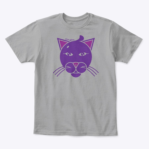 Kg Purrfect Kitty Light Heather Grey  T-Shirt Front