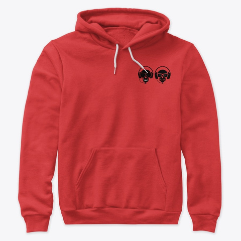 Wccs Skull Est Hoodie Red T-Shirt Front