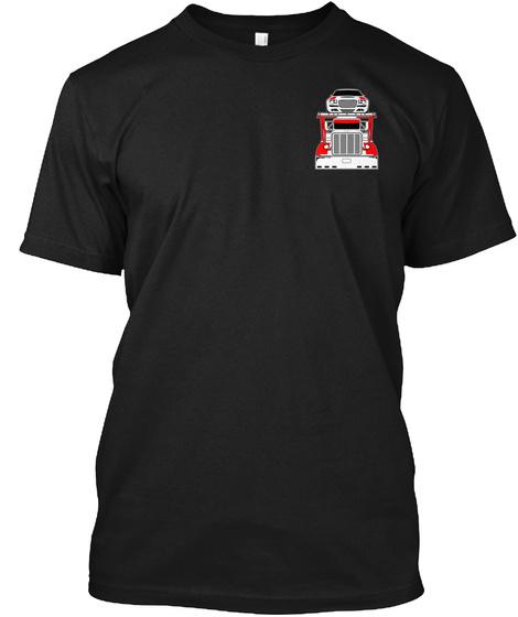 Car Hauler Rack'em Left Chest/Back Black T-Shirt Front