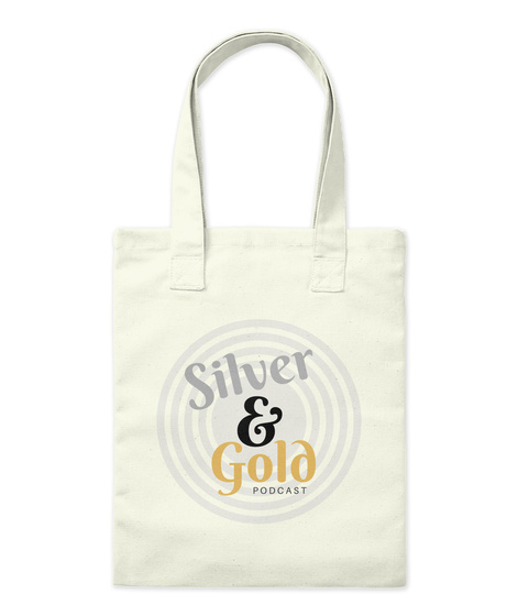 Silver And Gold Accessories Natural Tote Bag Front