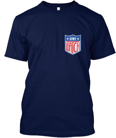 Uni Watch Navy T-Shirt Front