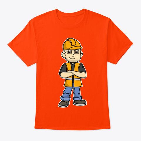 No Slack Novak Construction Worker Gear Orange T-Shirt Front