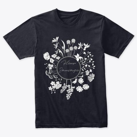 Wildflower Vintage Navy T-Shirt Front
