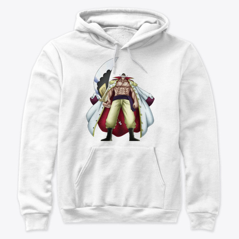 Whitebeard One Piece White T-Shirt Front