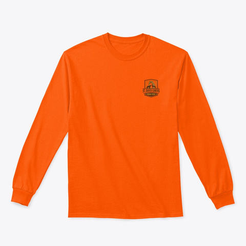 Full Color Logos Safety Orange T-Shirt Front