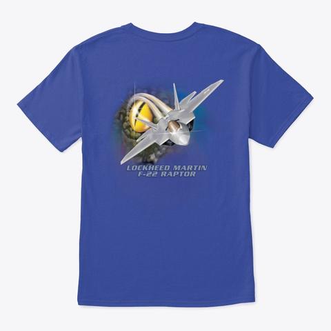 Lmsas F 22 Raptor T Shirt Deep Royal T-Shirt Back