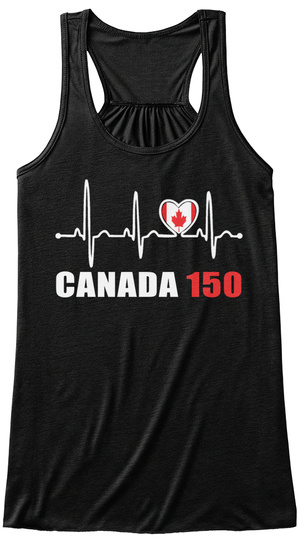 Canada 150 Black Tank Top Nữ Front