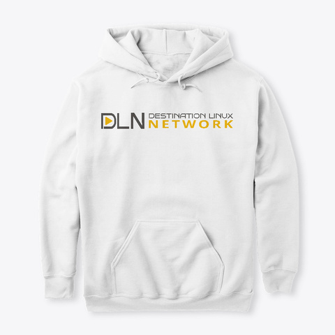 Dln Launch Hoodie   Light Theme White T-Shirt Front