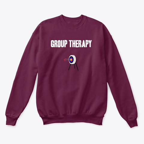 Group Therapy Maroon  T-Shirt Front